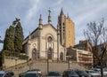 Santa Teresa D`Avila Cathedral - Caxias do Sul, Rio Grande do Sul, Brazil Royalty Free Stock Photo