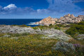 Santa teresa di gallura sardinia italy mediterranean sea view of sea and countryside Stock Photography