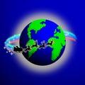Santa värld Arkivfoto