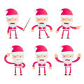 Santa in various poses for use advertising presentations etc Royalty Free Stock Photography