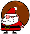Santa vector drawing of a cartoon Stock Photos