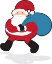Santa Walking Stock Photo
