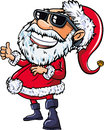 Santa wearing sunglasses with a big smile isolated on white Royalty Free Stock Image