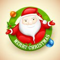 Santa wishing merry christmas illustration of Royalty Free Stock Photo