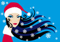 Santa woman, vector Royalty Free Stock Photos