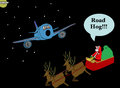 Santa Yells 'Road Hog'!