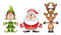 Santaclaus, Elf, Rudolph Stock Images