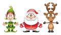 Santaclaus, Elf, Rudolph