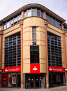 Santander bank facade of a branch of group one of the largest banks in the world in terms of market capitalisation nottingham Stock Image