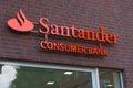 Santander consumer bank logo hamburg germany august the of the brand on august hanburg Stock Image