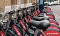 Santander cycles boris bikes in london Royalty Free Stock Images
