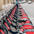 Santander cycles boris bikes in london Royalty Free Stock Photo