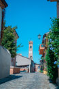 Santarcangelo view of the dome of the old church italy Rimini Italy Royalty Free Stock Photo