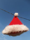 Santas cap color objects on a background Royalty Free Stock Photo