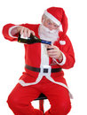 Santas Drink Stock Photography