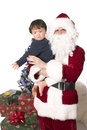Santas friend Royalty Free Stock Photography