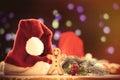 Santas hat and gingnerbread Royalty Free Stock Photo