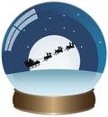 Santas sleigh globe Royalty Free Stock Photo