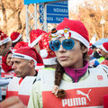 Almost santas take part in the babbo running in milan italy december colorful and funny event to celebrate this coming christmas Stock Photography