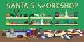 Santas Workshop Royalty Free Stock Photo