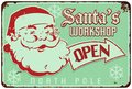 Santas Workshop Vintage Sign Royalty Free Stock Photo