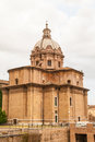 Santi luca e martina the church of with the remains of the roman forum Stock Photo