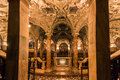Santiago de compostela cathedral detail of the treasury of with its golden shiny adornments Royalty Free Stock Photos