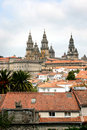 Santiago de Compostela and her cathedral in Spain Stock Images