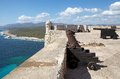 Santiago de cuba castillo del morro morro castle at the with a seascape Royalty Free Stock Photo