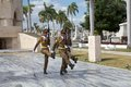 Santiago de cuba guard mounting or changing the guard at the cemetery of ifigenia in created in to accommodate the victims of Stock Images