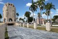 Santiago de cuba mausoleum of jose marti in the cemetery of santa ifigenia in created in to accommodate the victims of the Royalty Free Stock Photo
