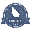 Santiago Island logo sign.