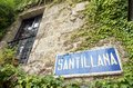Santillana del mar sign cantabria spain Stock Photo
