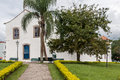 Santo antonio church lapa parana the facade of the historical with its blue wood windows and doors and white walls brazil Stock Images