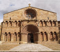 Santo Domingo church in Soria Stock Photography
