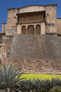 Santo Domingo - Inca walls - Koricancha - Peru Royalty Free Stock Photos