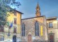 Santo spirito steeple and buildings around Stock Images