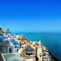 Santorini острова Греции Стоковые Фотографии RF