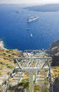 Santorini cable car, Santorini Stock Image