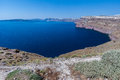 Santorini Caldera Greece Stock Image