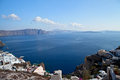Santorini caldera view Royalty Free Stock Images