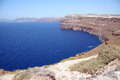 Santorini caldera view greece island in summer Stock Image