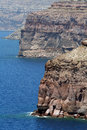 Santorini caldera view greece island is summer Royalty Free Stock Photos