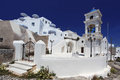 Santorini church in fira greece amazing with Stock Image