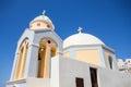 Santorini church. Royalty Free Stock Photo