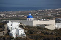 Santorini Churches in Fira, Greece Royalty Free Stock Photography