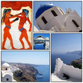 Santorini collage 02 Royalty Free Stock Photo
