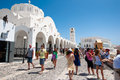 Santorini fira july fira cathedral on july in fira town on santorini greece is the modern capital of the greek aegean island Royalty Free Stock Image