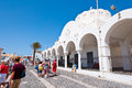 Santorini fira july orthodox cathedral on july in fira town on the santorini island greece firá is modern capital of greek aegean Royalty Free Stock Images