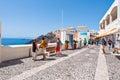 Santorini fira july tourists enjoy view on july in fira town on the santorini island greece is modern capital of greek aegean Royalty Free Stock Photos